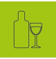 Wine menu design vector