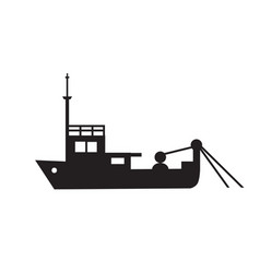 yacht ship object pleasure vessel silhouette vector image