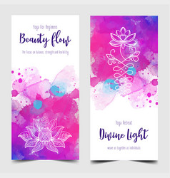 yoga card design colorful template for spiritual vector image