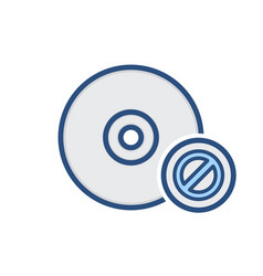 cd compact disable disk drive error storage icon vector image