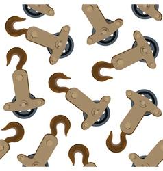 crane hook pattern vector image vector image