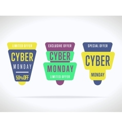 Cyber monday sale sticker isolated vector