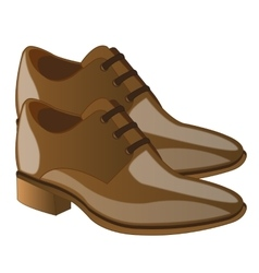 Fashionable male loafers vector image