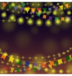 Garland festival background vector