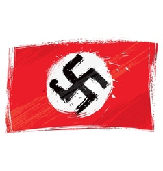 Grunge Nazi flag vector image vector image