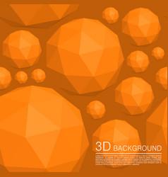 seamless 3d balls polygons vector image