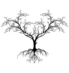tree silhouette without leaf vector image vector image