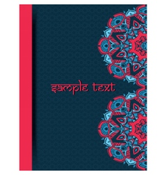 Vintage card with lace Indian ornaments vector image