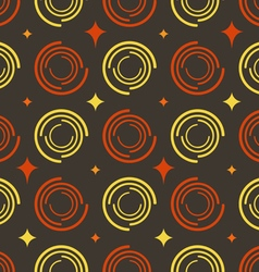 Background colored circles stars vector image vector image