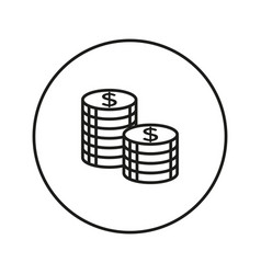 coins stack icon vector image vector image