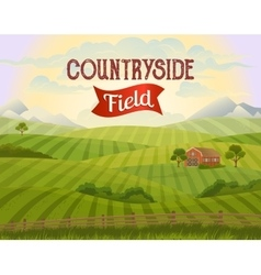 Meadow landscape Countryside Rural area vector image