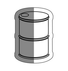 tank barrel isolated icon vector image