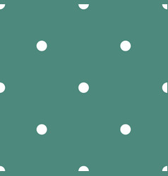 tile pattern with small white polka dots on green vector image vector image