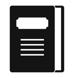 Tutorial icon simple style vector