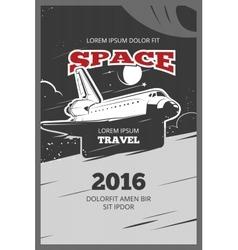 Vintage astronautics poster vector image