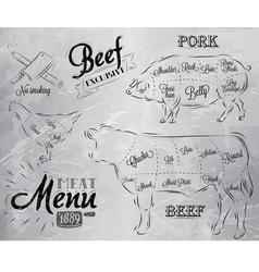 Meat Menu coal vector image vector image