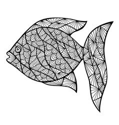 Stylized fish zentangle vector