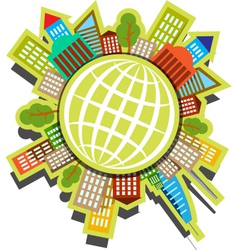 people Planet vector image vector image