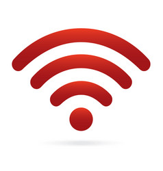 red wifi icon wireless symbol on isolated vector image vector image