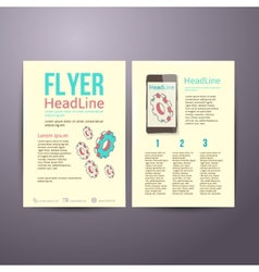 Abstract Brochure Flyer design template with gears vector