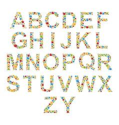 alphabets set letters stylized colorful bubbles vector image