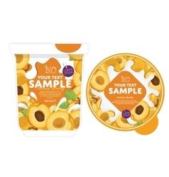 Apricot Yogurt Packaging Design Template vector