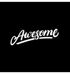 Awesome hand written lettering vector