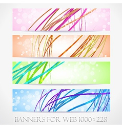 Banners for web collection15 vector image vector image