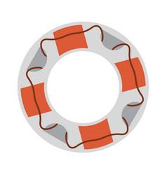 beach lifesaver float vector image