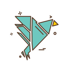bird icon design vector image