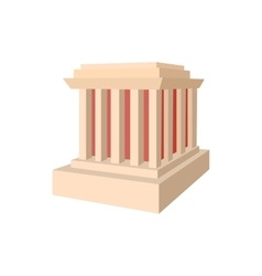 Building with columns icon cartoon style vector image