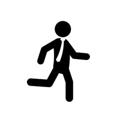 Businessman running pictogram vector