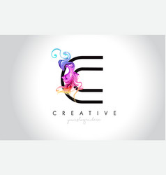 c vibrant creative leter logo design with vector image