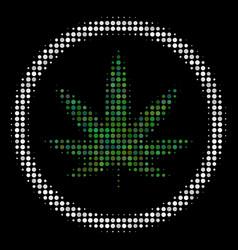 Cannabis halftone icon vector