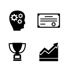 career progress simple related icons vector image