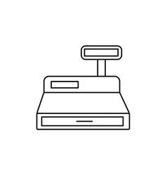 Cash box icon vector