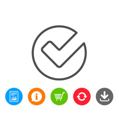 check line icon approved tick sign vector image
