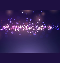 christmas bokeh lights design vector image