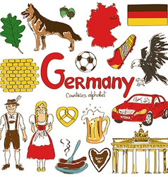 collection germany icons vector image