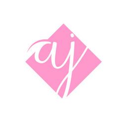 Creative initial letter aj square logo design vector