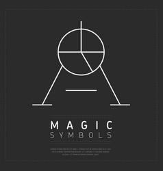 Creative symbol magic vector