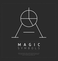 Creative symbol of magic vector