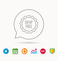 Dehp free icon non-toxic plastic sign vector