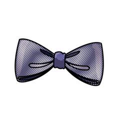 drawing bow decoration elegant ribbon image vector image