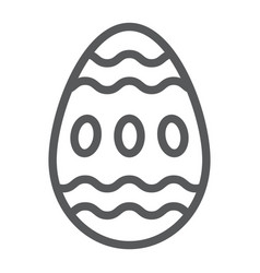 easter egg line icon food and easter decoration vector image