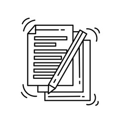 ecommerce document icon hand drawn icon set vector image