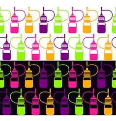 Endless background of bottle vector