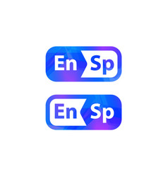 english spanish dictionary logo foreign language vector image