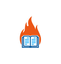 fire book logo icon design vector image