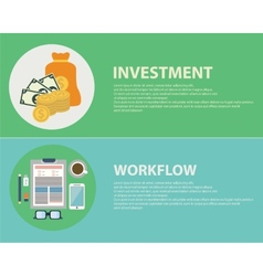 Flat design concepts for business finance vector image vector image